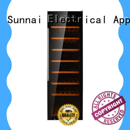 Sunnai freestanding dual zone wine cooler series for shop