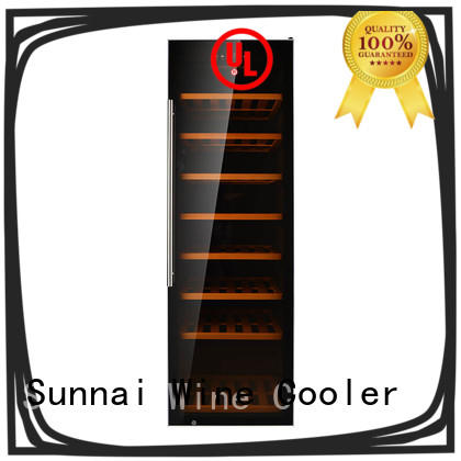Sunnai black free standing wine refrigerator supplier for work station