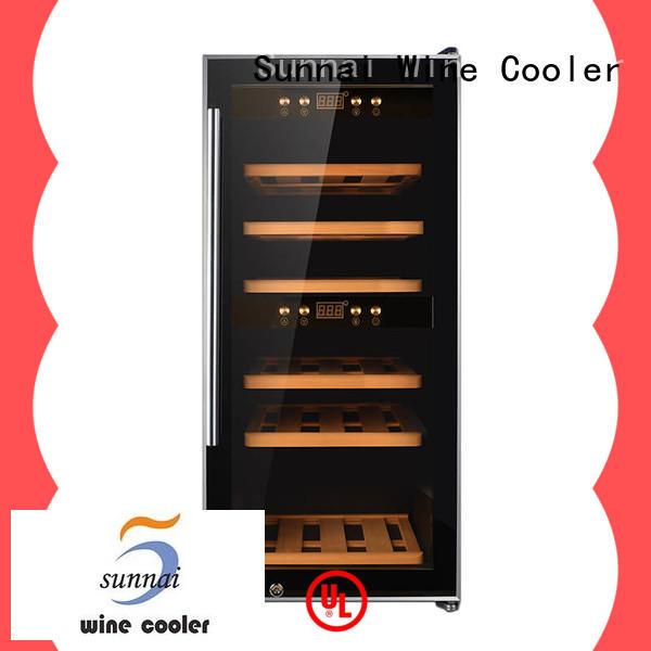 black wine bottle fridge freestanding supplier for work station