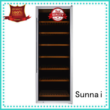 high quality single zone wine refrigerator black product for work station