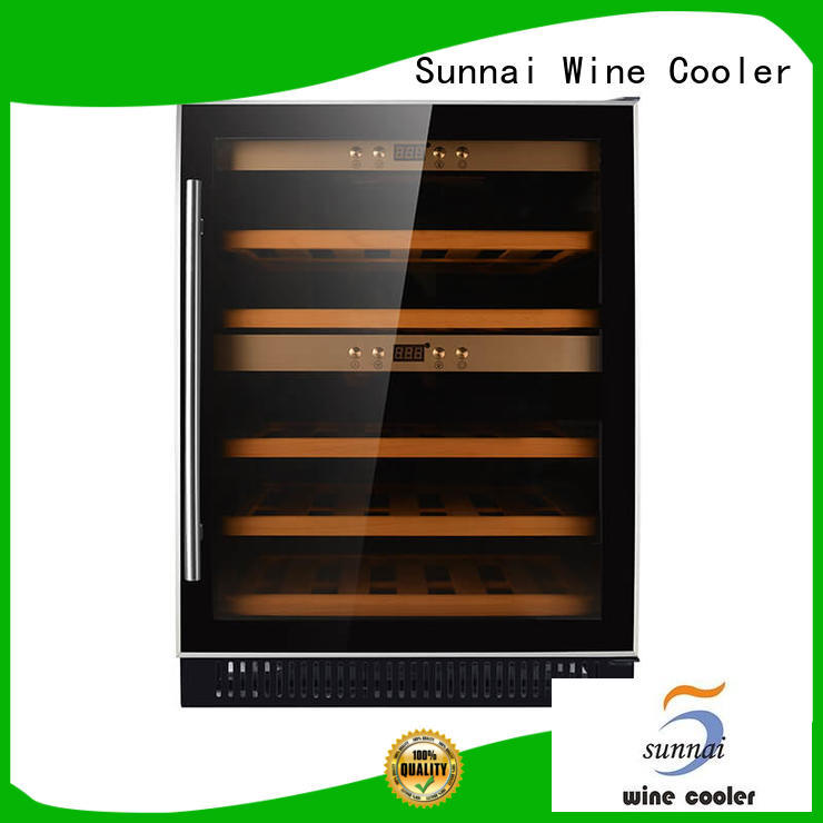 Sunnai dual under counter dual zone wine fridge supplier for shop