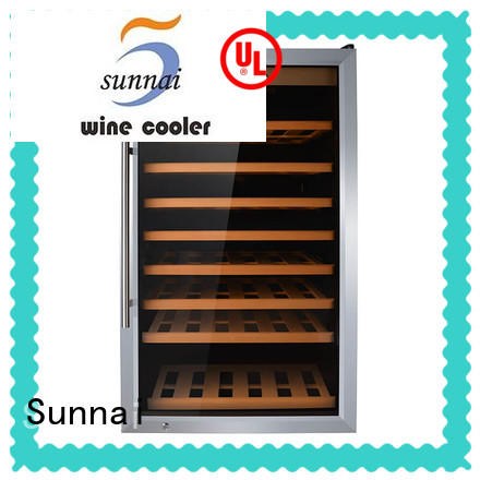 Sunnai smaller freestanding wine cooler refrigerator for indoor