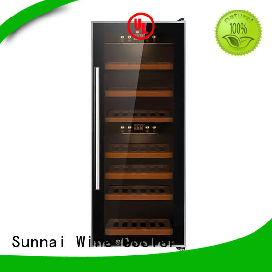 Sunnai professional dual zone wine cooler product for shop