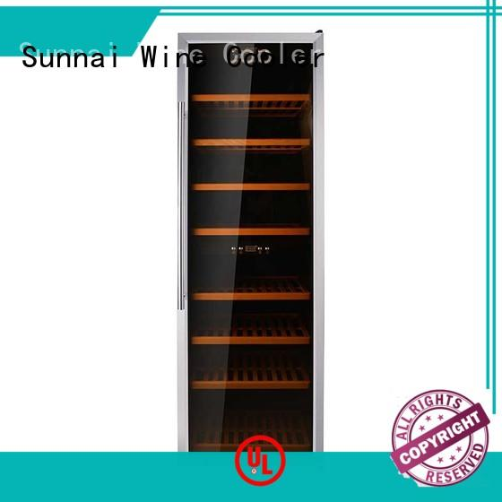 Sunnai shelves dual zone wine fridge product for work station