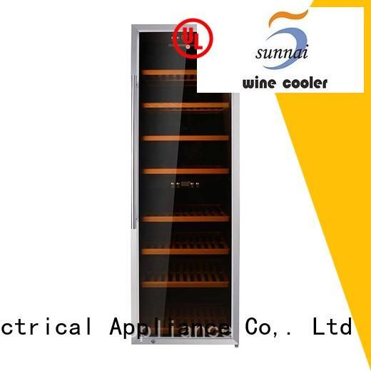Sunnai black single zone wine refrigerator product for shop