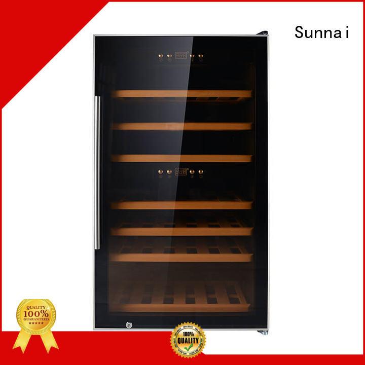 Sunnai double wine bottle cooler refrigerator for shop