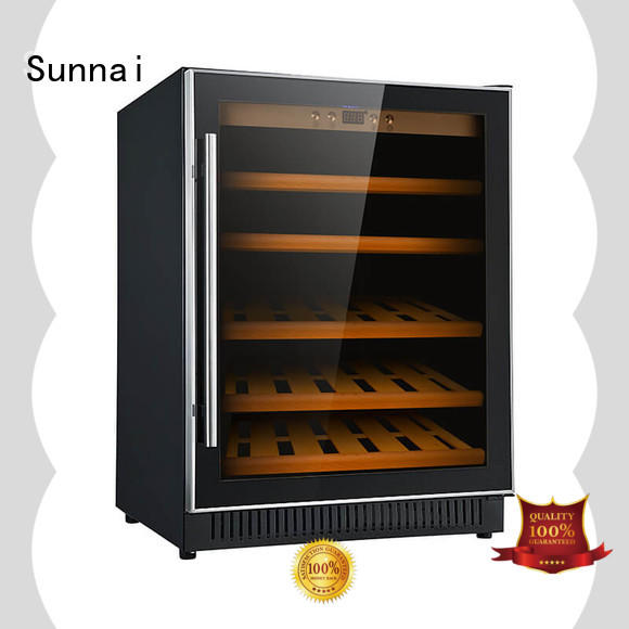 Sunnai durable under counter dual zone wine fridge compressor for shop