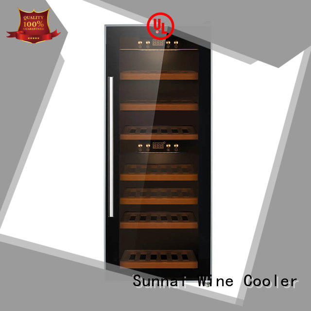 Sunnai smaller dual zone freestanding wine cooler product for shop