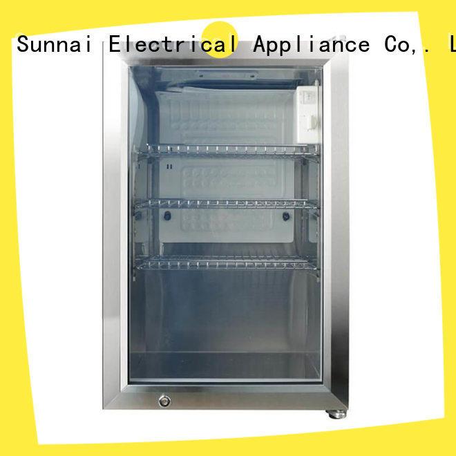 Sunnai durable compressor beverage cooler manufacturer for shop