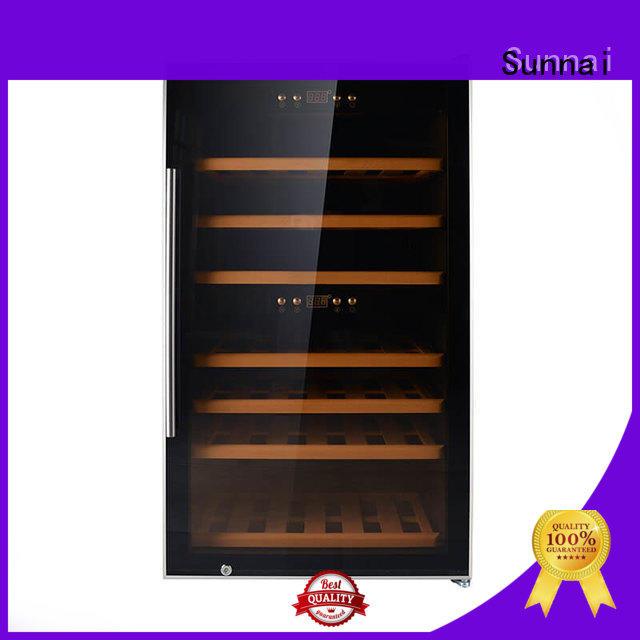 black stainless steel door wine cooler single manufacturer for shop