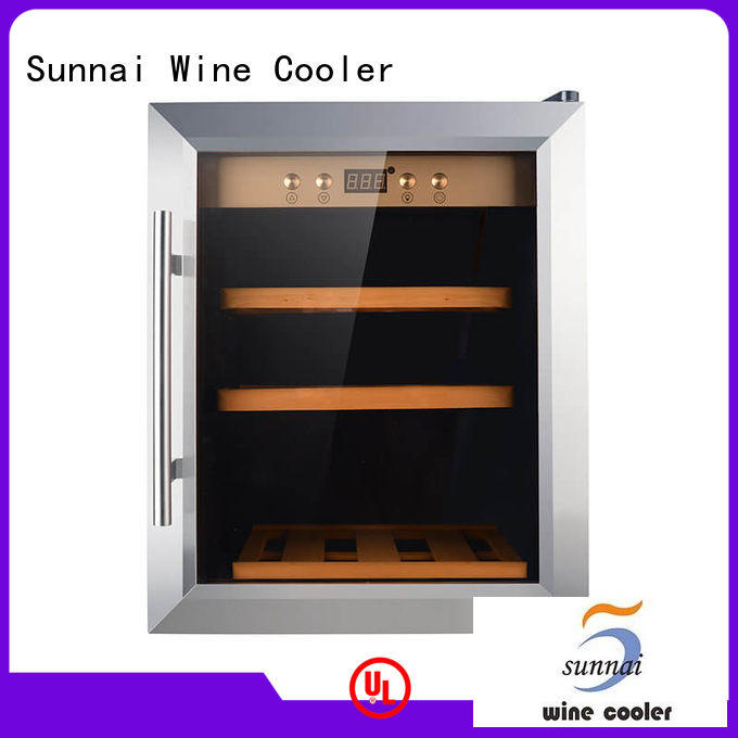 Sunnai high quality single zone wine fridge wholesale for indoor