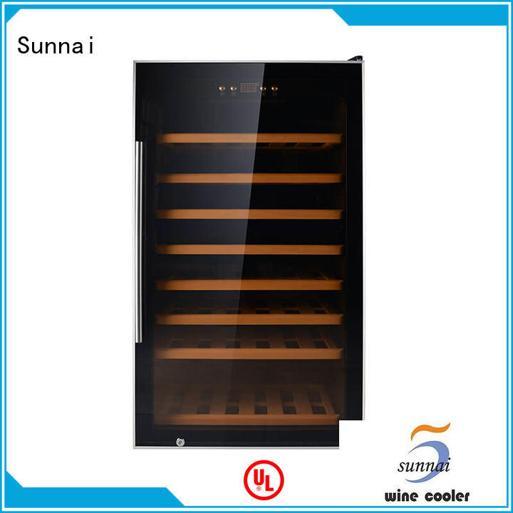 Sunnai cooler single zone wine cooler supplier for work station