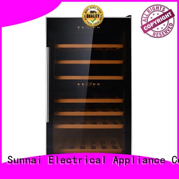 Sunnai double stainless steel door wine cooler manufacturer for indoor
