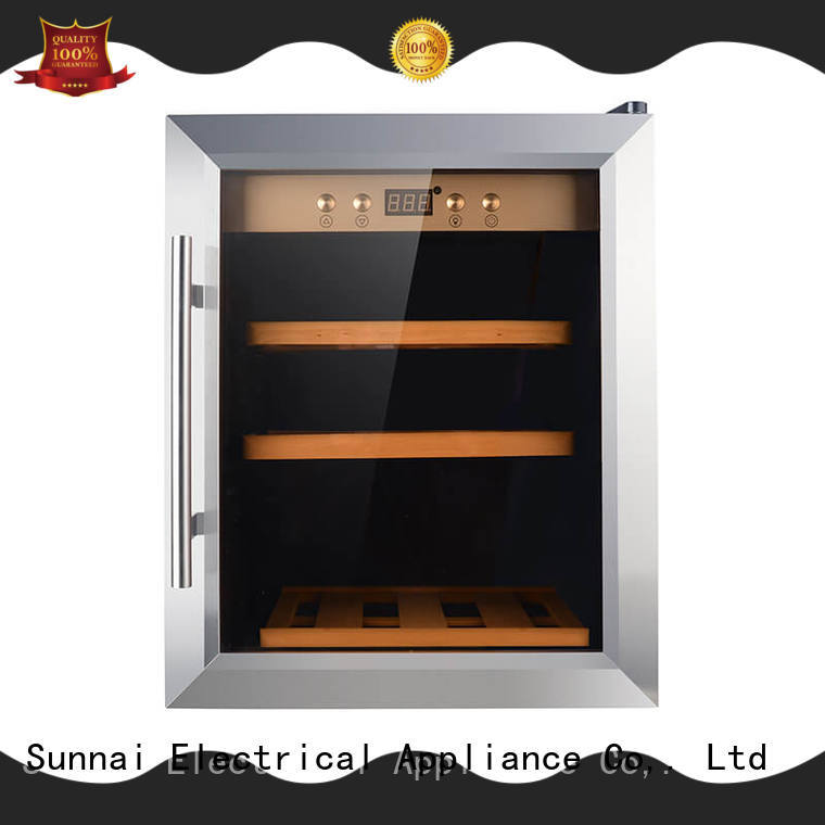 Sunnai black freestanding wine cooler manufacturer for work station