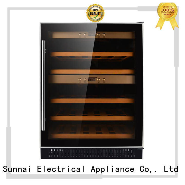 Sunnai zone double doors wine cooler compressor for work station
