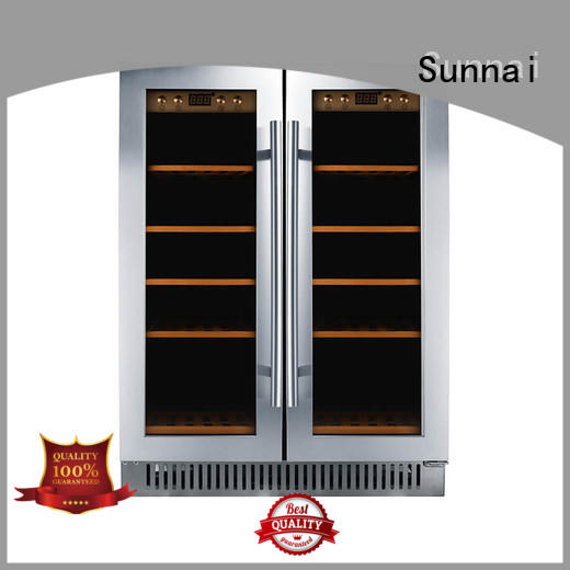 Sunnai steel under counter wine fridge manufacturer for shop