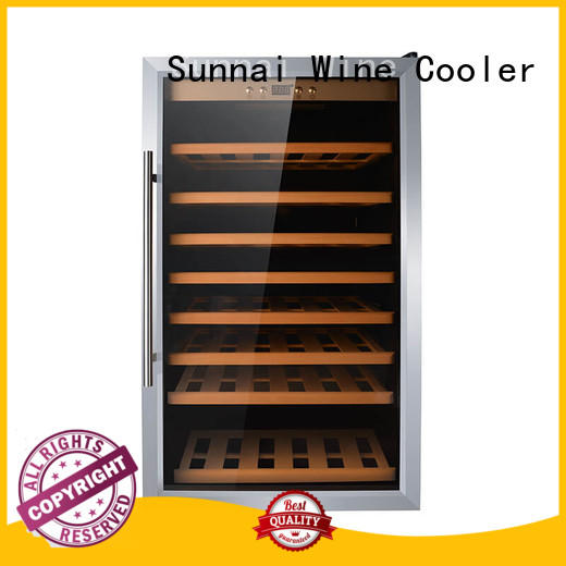 Sunnai stainless dual zone wine fridge product for work station