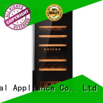 Sunnai black freestanding wine fridge refrigerator for work station
