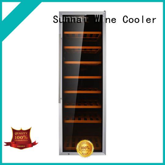 Sunnai stainless dual zone wine fridge series for indoor