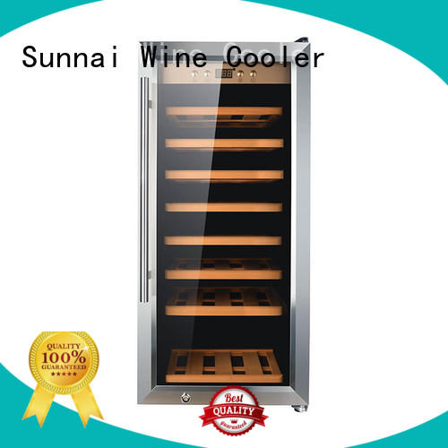 Sunnai black wine cooler refrigerator manufacturer for shop