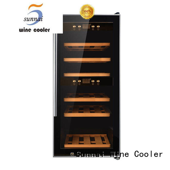 Sunnai black wine cellar cooler manufacturer for shop