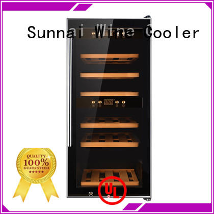 Sunnai online dual zone wine cooler refrigerator for work station