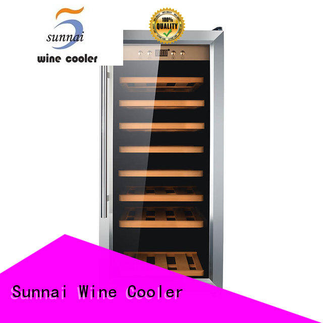 Sunnai stainless wine cooler refrigerator product for work station