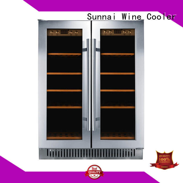 Sunnai safety under counter dual zone wine fridge series for work station