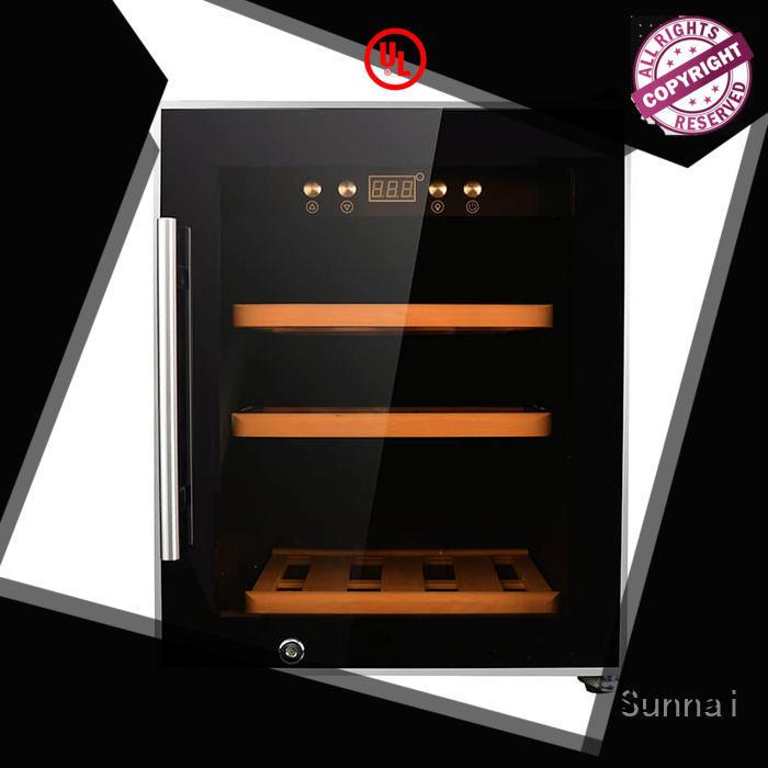 durable wine cellar fridge black manufacturer for home
