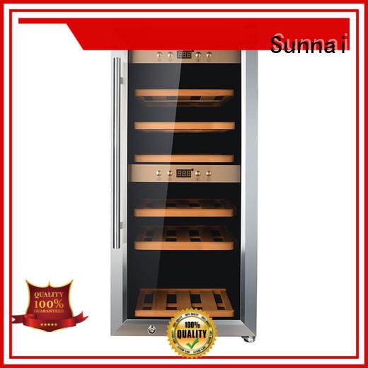 Sunnai fridge dual zone wine refrigerator wholesale for work station