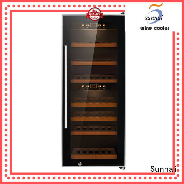 single dual zone freestanding wine cooler table wholesale for home