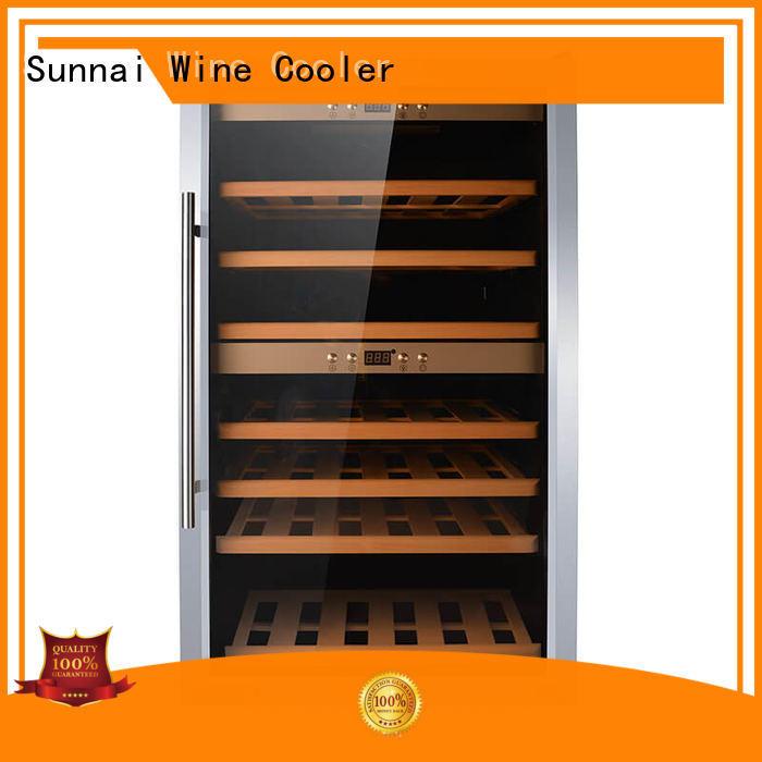 Sunnai chiller dual zone wine fridge wholesale for indoor