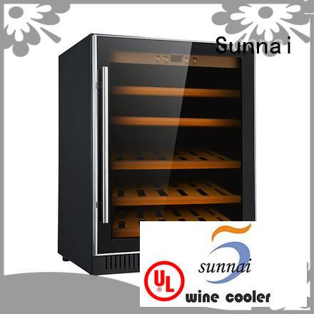Sunnai single dual zone undercounter wine cooler series for indoor