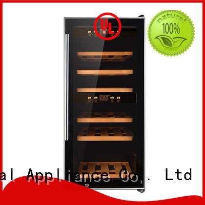 Sunnai wood dual zone freestanding wine cooler refrigerator for shop
