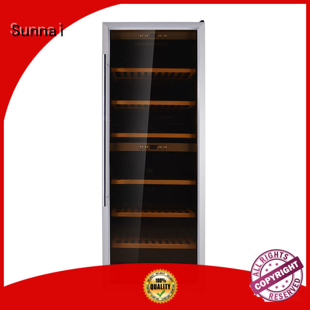 Sunnai black wine cellar fridge supplier for indoor