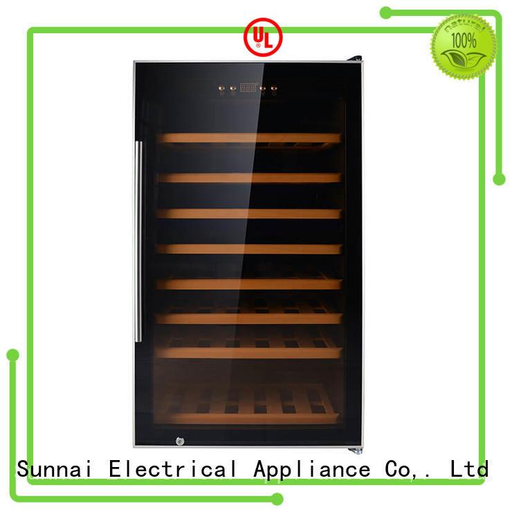 Sunnai black stainless steel door wine cooler manufacturer for shop
