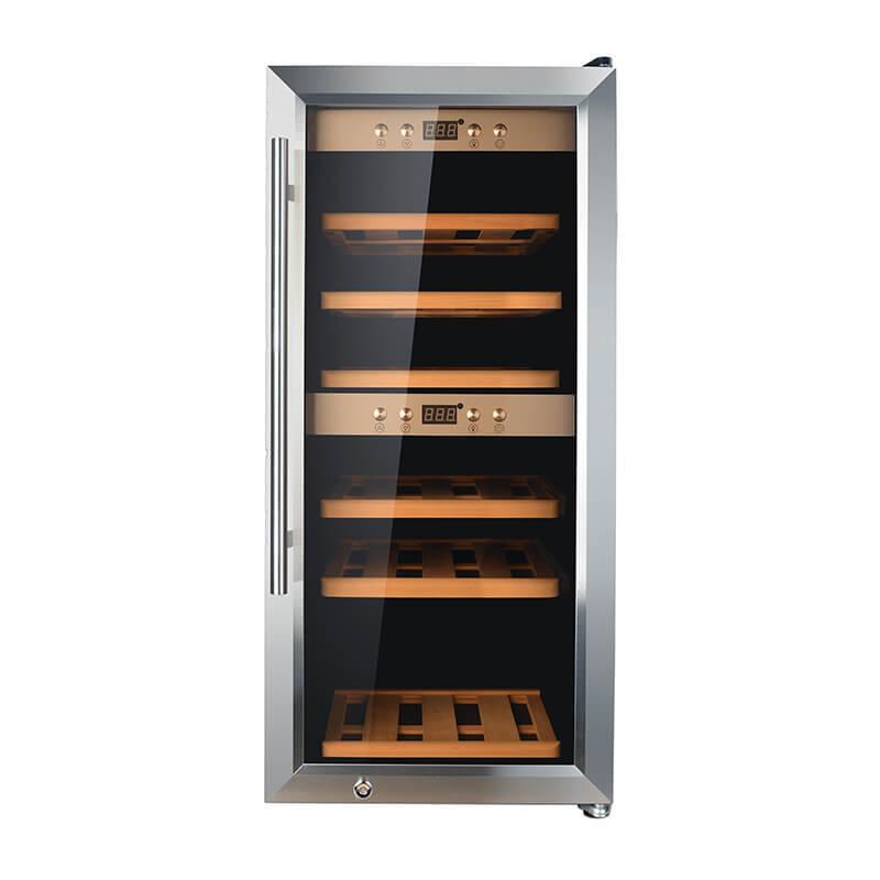 24 Bottles dual zone wine refrigerator