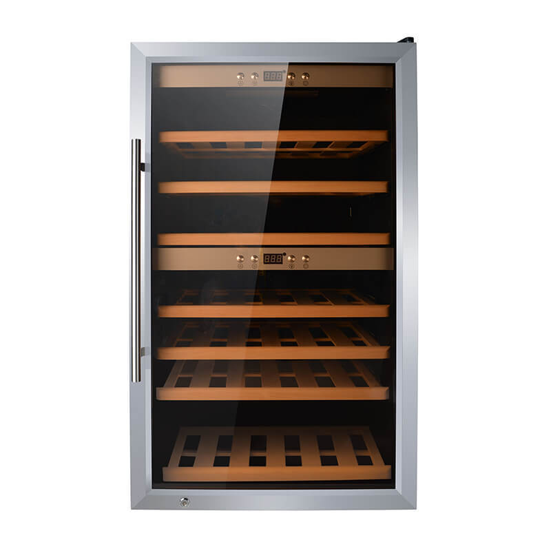 66 Bottles freestanding compressor wine cooler