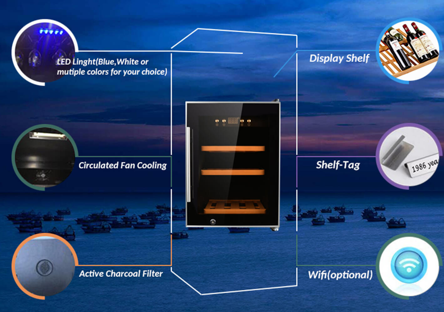Sunnai high quality wine cooler fridge wholesale for shop