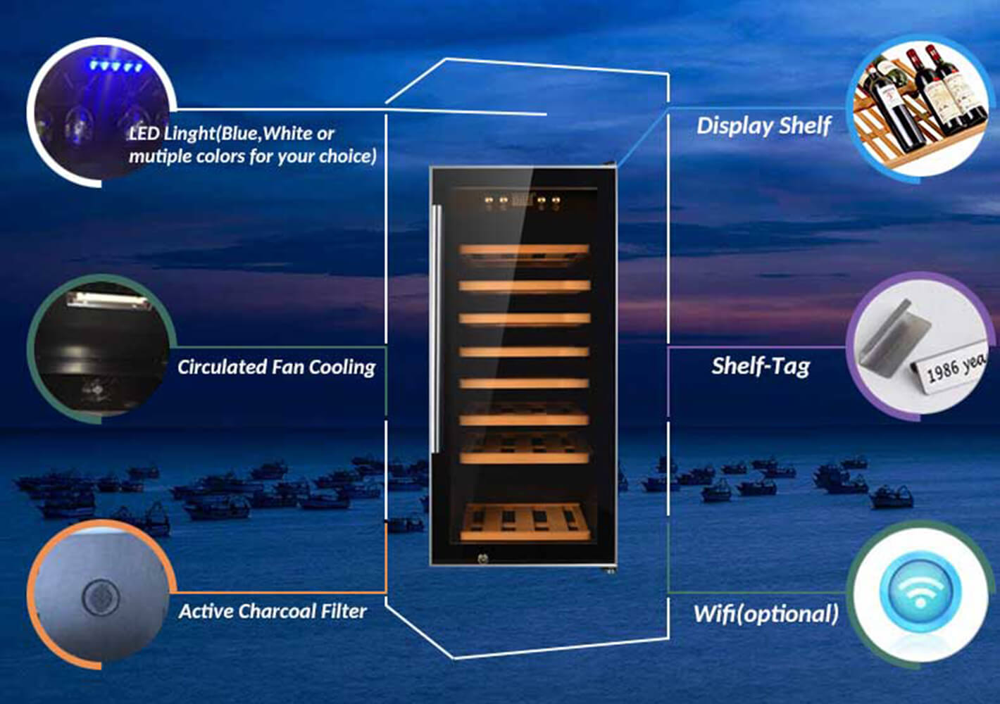 durable small wine chiller cabinets zone wholesale for home-2