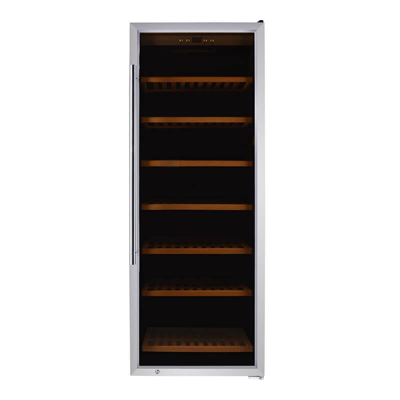 137 Bottles compressor stainless steel door Single Zone wine fridge