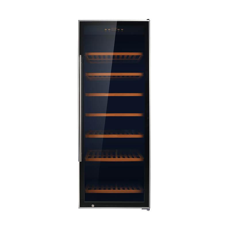 137 Bottles 350L compressor stainless steel door wine chiller