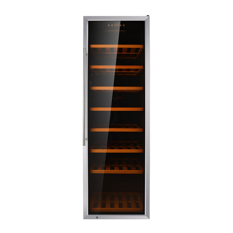 192 Bottles compressor with stainless steel door Single Zone wine fridge
