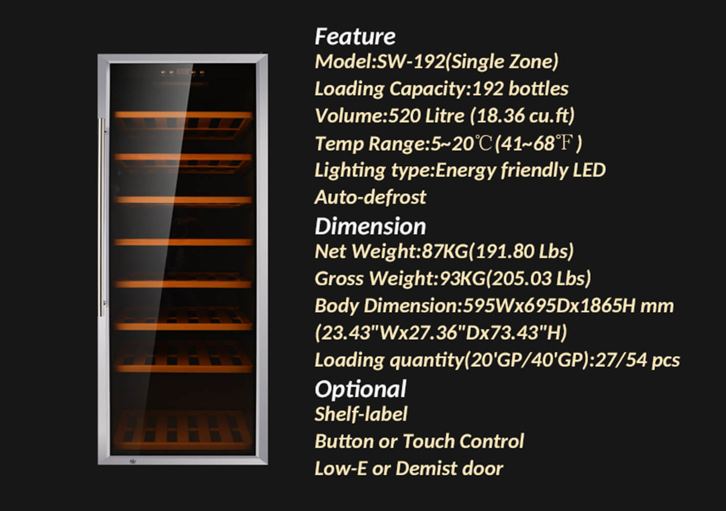 Sunnai Sunnai double wine fridge wholesale for indoor