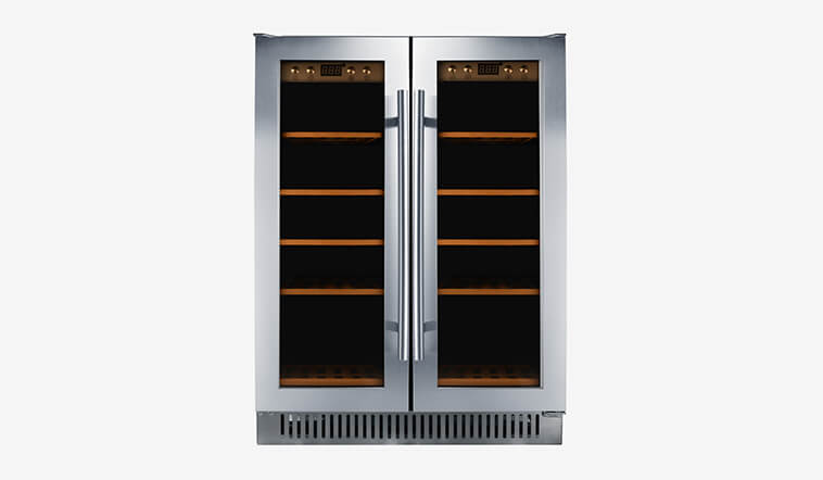 Sunnai high quality black stainless steel wine fridge wholesale for indoor-1