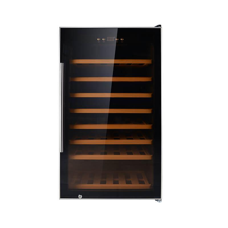 75 Bottles single zone freestanding compressor beech wood wine cooler