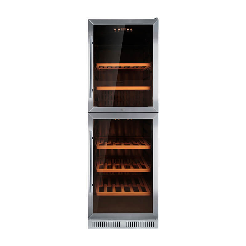 125 Bottles undercounter compressor Double door wine cooler