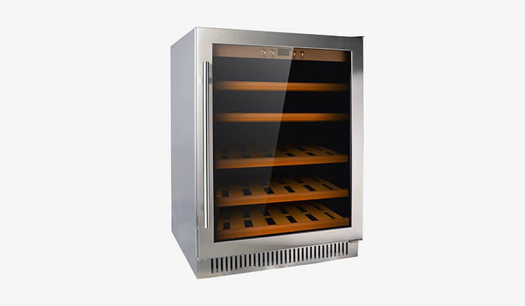 Sunnai professional black stainless steel wine fridge silver for indoor