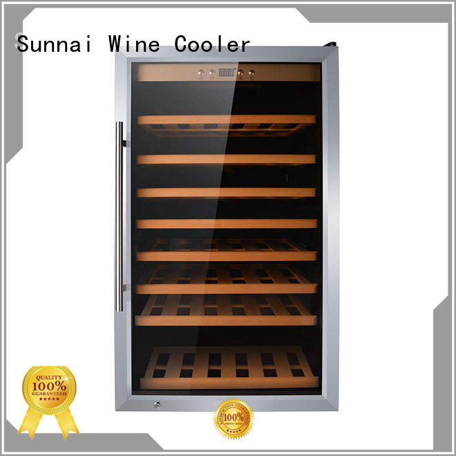 Sunnai black freestanding wine cabinet fridge for shop