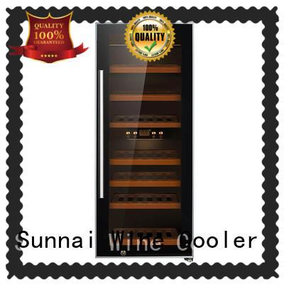Sunnai single dual zone freestanding wine cooler supplier for shop